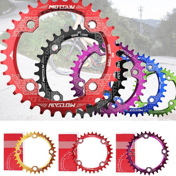 104BCD Bicycle Crankset Circular Oval Chainring 32//34//36//38T Bike Chainwheel