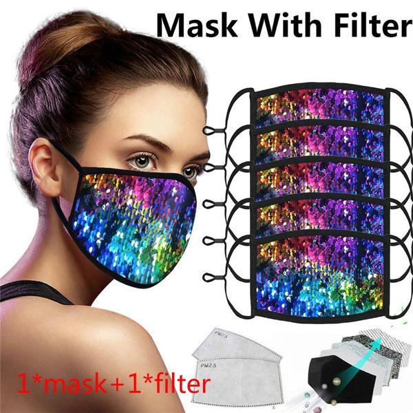 Fashion, dustmask, sequinmask, Masks