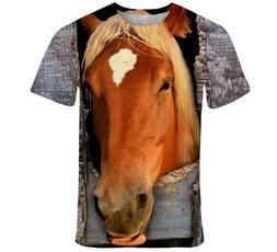 Summer, horse, Shorts, Shirt