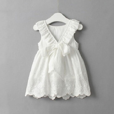 cute, bowknot, kids clothing, Dress