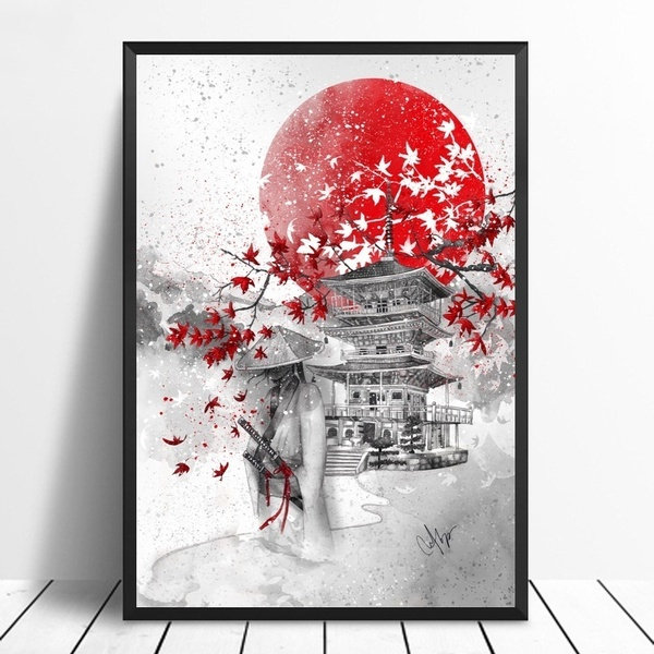 Home & Kitchen, mountfuji, art, cherryblossom