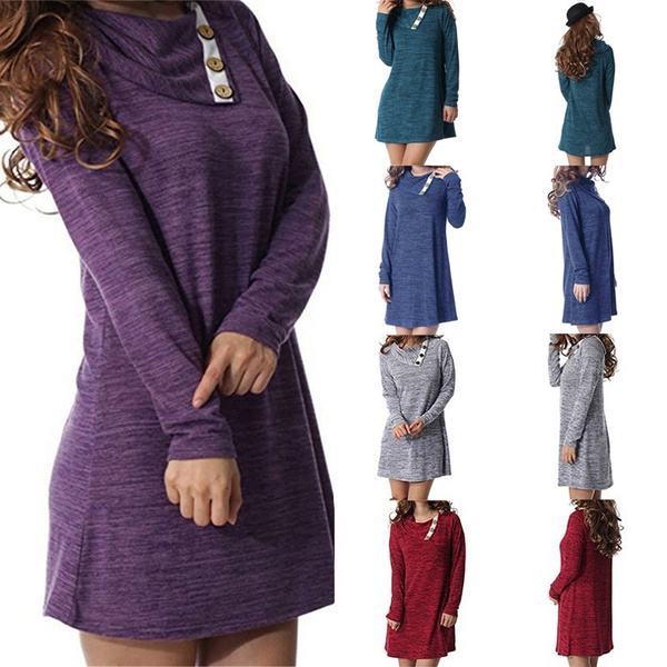 buttondres, irregulardres, Winter, solidcolordres