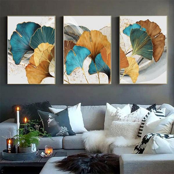 Blues, Plants, Wall Art, Home