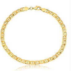 14ksolidgoldmarineranklet, Link, uniquejewel, gold