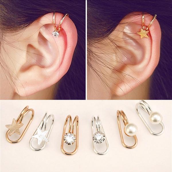 Earring Cuff, Triangles, punk earring, Love