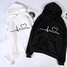 Couple Hoodies, Fashion, heartprintedhoodie, loveprintedsweater