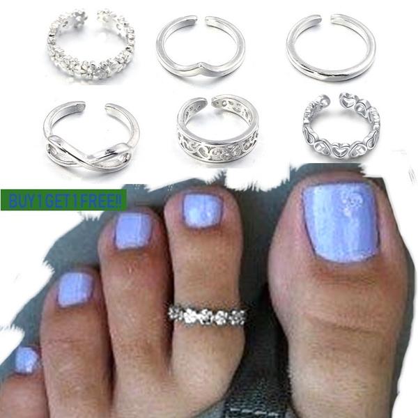 Jewelry, pinkyring, footjewelry, toeringsforwomen