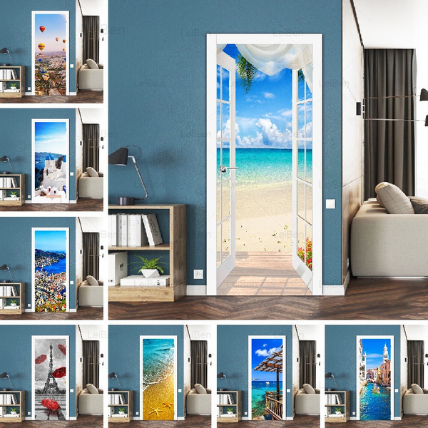 removablewaterproofdoordecal, Decor, Wall Art, Home Decor
