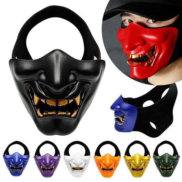 devils, halffacemask, halloweenparty, Samurai