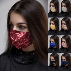 partyclub, Bling, mouthmask, sequinmask