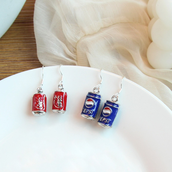 exaggeratedearring, Jewelry, Stud Earring, cocacolabottleearring