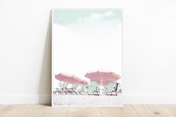 pink, canvasprint, art, Home Decor