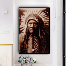 americanindianportraitpainting, canvasprint, canvasnativeindianportrait, Wall Art