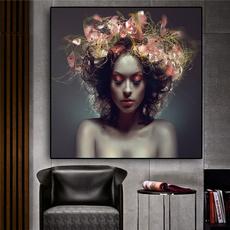 Flowers, art, canvaspainting, Beauty
