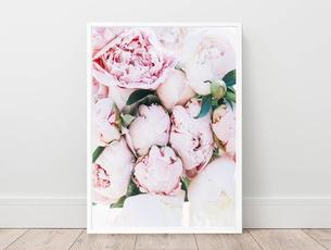 pink, flowerposter, Flowers, art