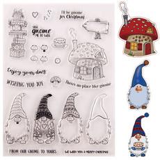 Scrapbooking, Christmas, Mushroom, Stamps