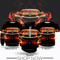 Fashion, Shirt, Fire, Cars