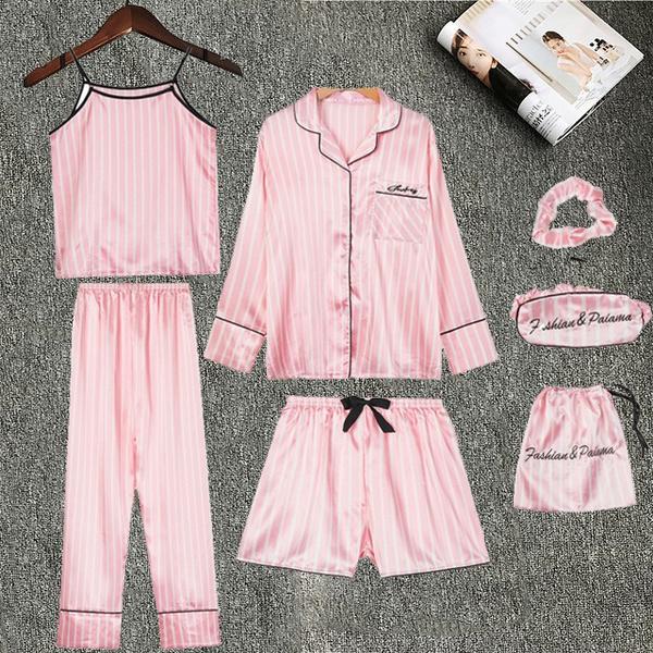 Fashion, sexpajama, womenpajamassuit, sleepwearset