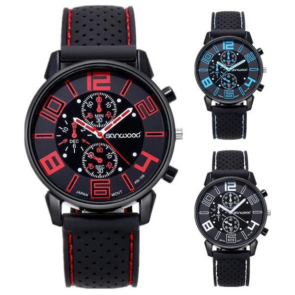 stainlesssteelquartzsportmilitarywatch, Silicone, Watch, Watches