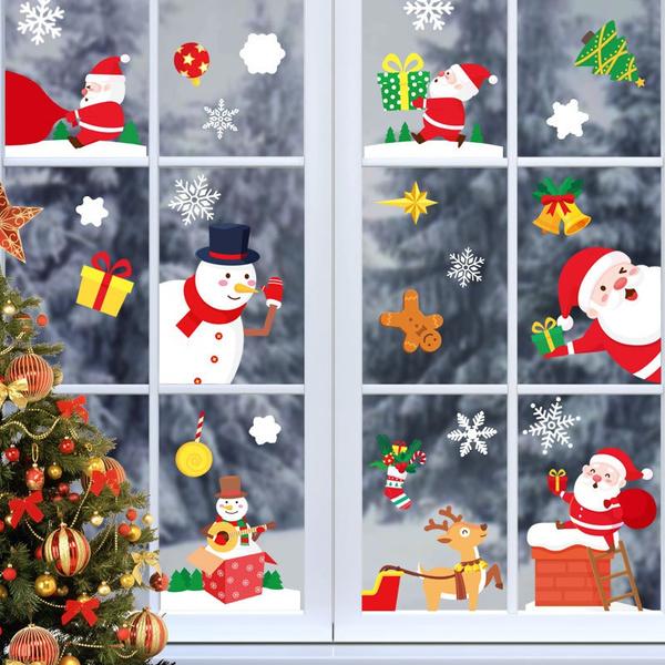 windowdecal, electrostaticsticker, Christmas, santaclaussticker