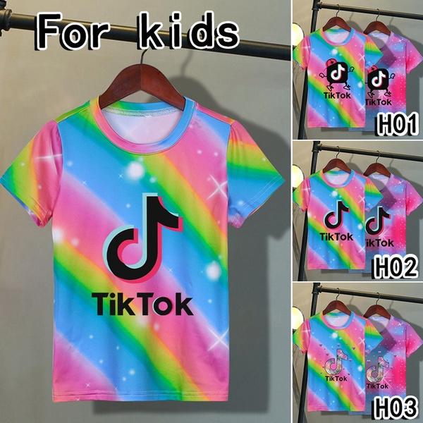 Fashion, Colorful, tiktokshirt, short sleeves
