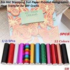 Holographic, heatactivatedfoil, Craft, aluminumfoilpaper