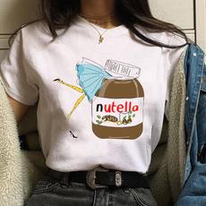 cartoonnutellaprint, Fashion, cute, short sleeves
