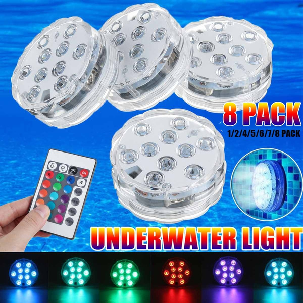 led, rgbunderwaterledlight, Waterproof, Battery