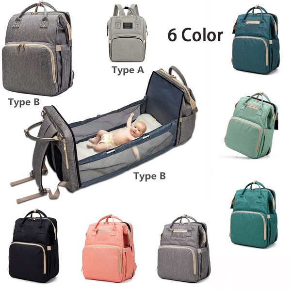 Multi-purpose Diaper Bag Luckyx Portable Diaper Bag Bassinet For Baby Multifunctional Backpack Foldable Cot Bed Lightweight Mummy Bag Nappy Changing Bags