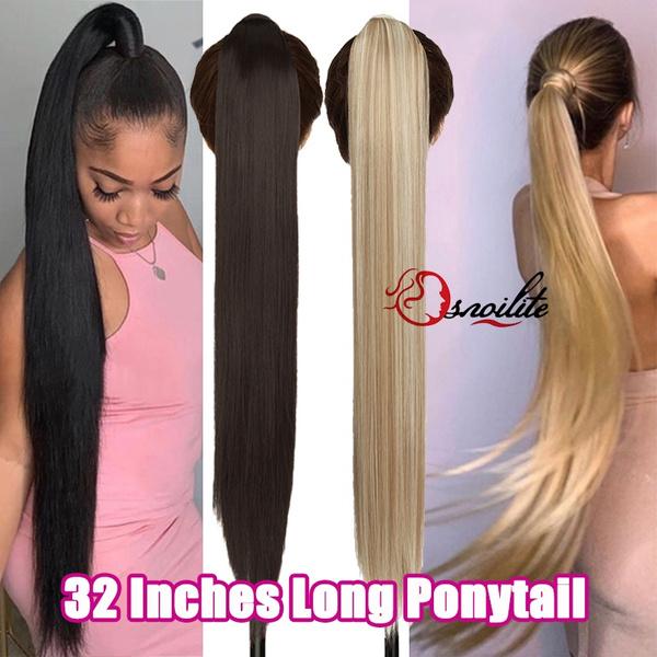 ponytailextension, silkystraightponytail, Hairpieces, mujer