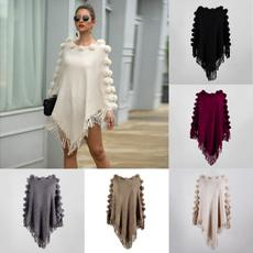sweatershawl, women pullover, Tassels, Women Sweater