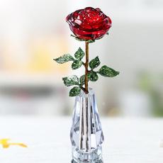 Beautiful, decoration, glasspaperweight, Flowers