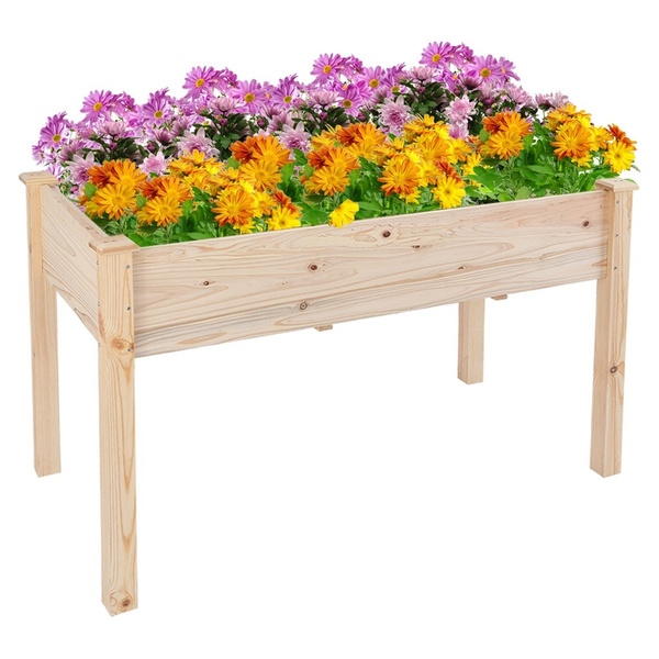 Box, Flowers, Garden, Wooden