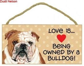 Heart, Love, cute, bulldog