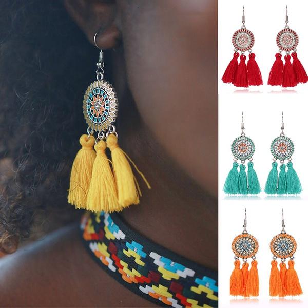 charmearring, Tassels, Jewelry, Vintage