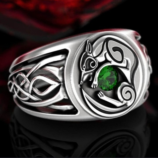 Sterling, Celtic, Fox, Jewelry