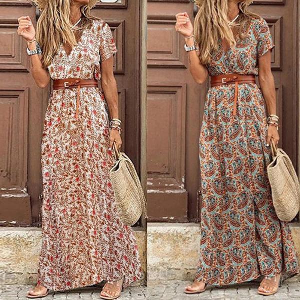Fashion, chiffon, long dress, Dress
