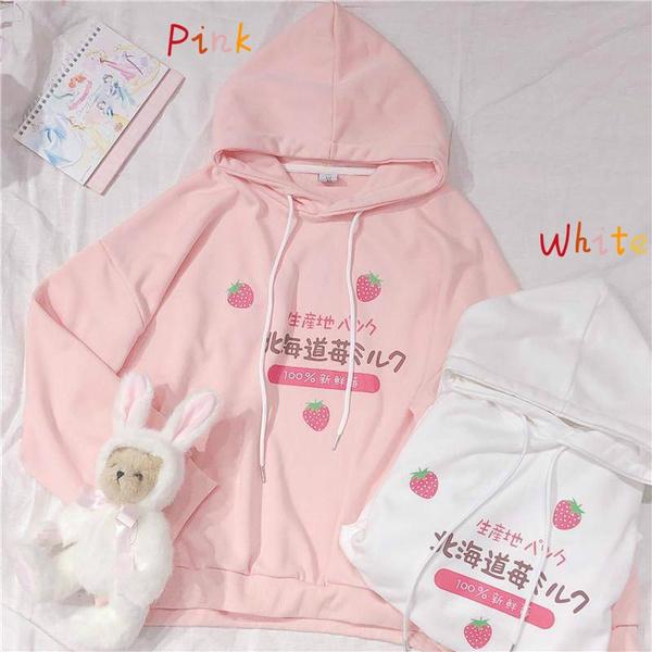 Kawaii, hoodiesformen, printhoodie, Casual Hoodie