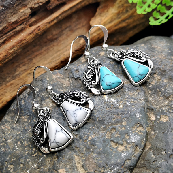 Turquoise, Fashion, Jewelry, vintage earrings