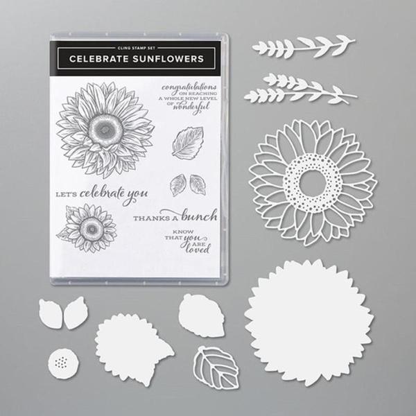 siliconestamp, Sunflowers, metalcuttingdie, Metal