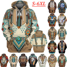 hoodedtop, Cosplay, Ethnic Style, graphic pullover hoodies