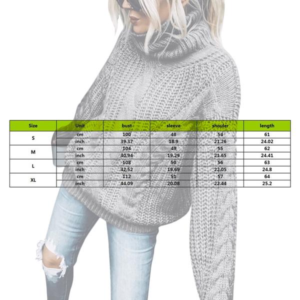 Fashion, solidcolorsweater, Long Sleeve, womensturtleneckpullover
