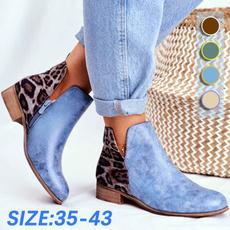 ankle boots, Plus Size, Winter, flatheelboot