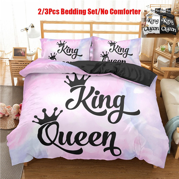 His Queen And Her King Bedding, King Queen Bed Set