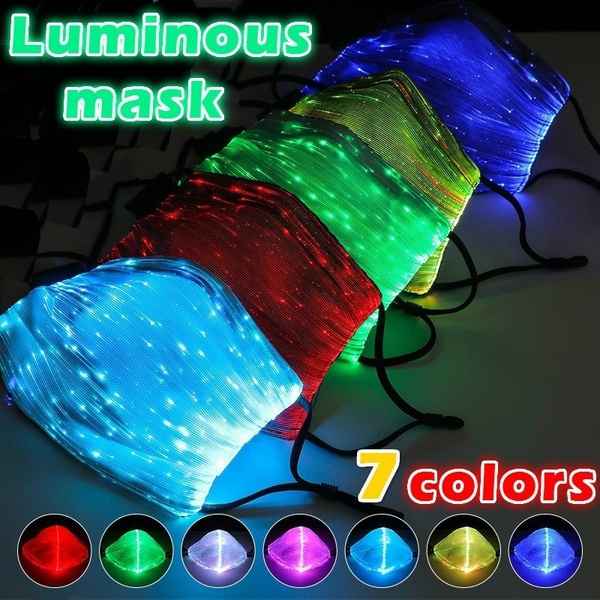 party, glowingmask, ledravemask, partymask