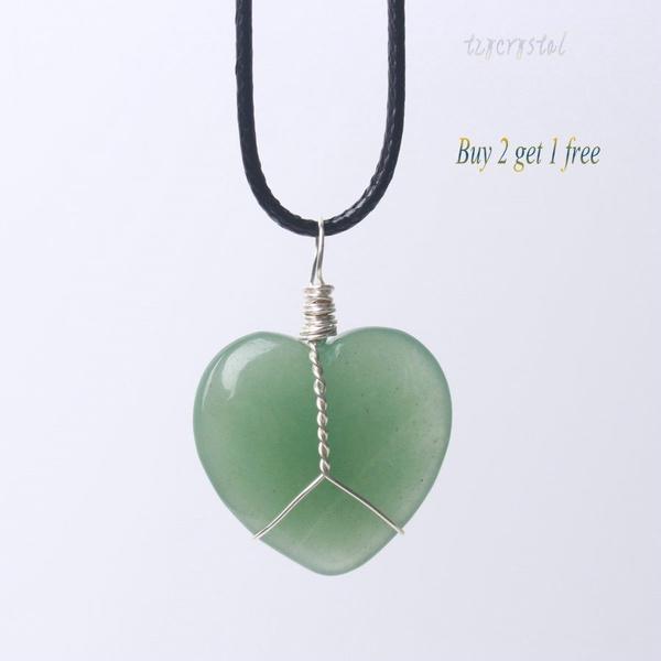 Heart, wirewrappedpendant, handicraft, Jewelry