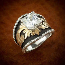 Antique, Sterling, Women Ring, gold