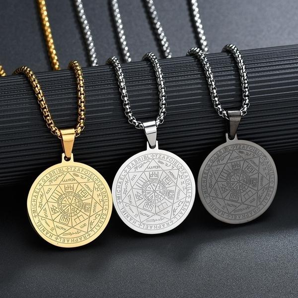Steel, women necklace, unisex, religiousjewelry