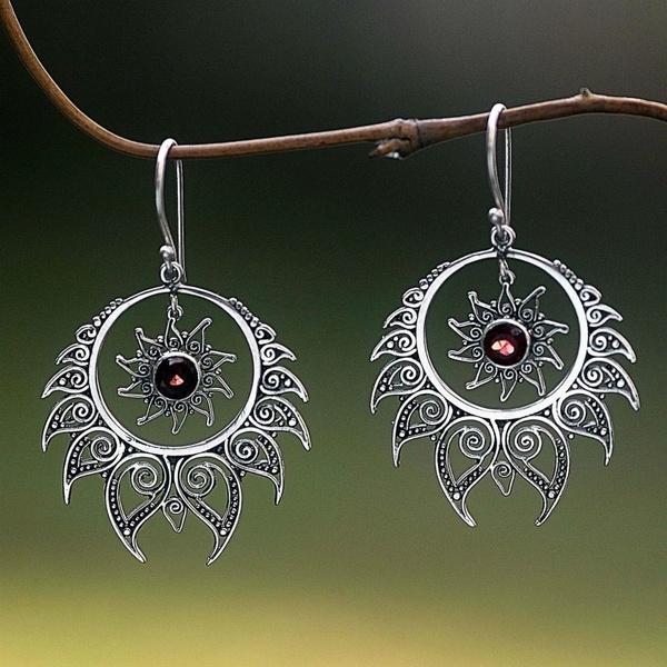 Sterling, flameearring, Dangle Earring, Jewelry