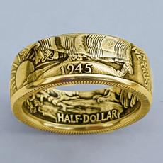 Antique, coinringring, morganring, Jewelry